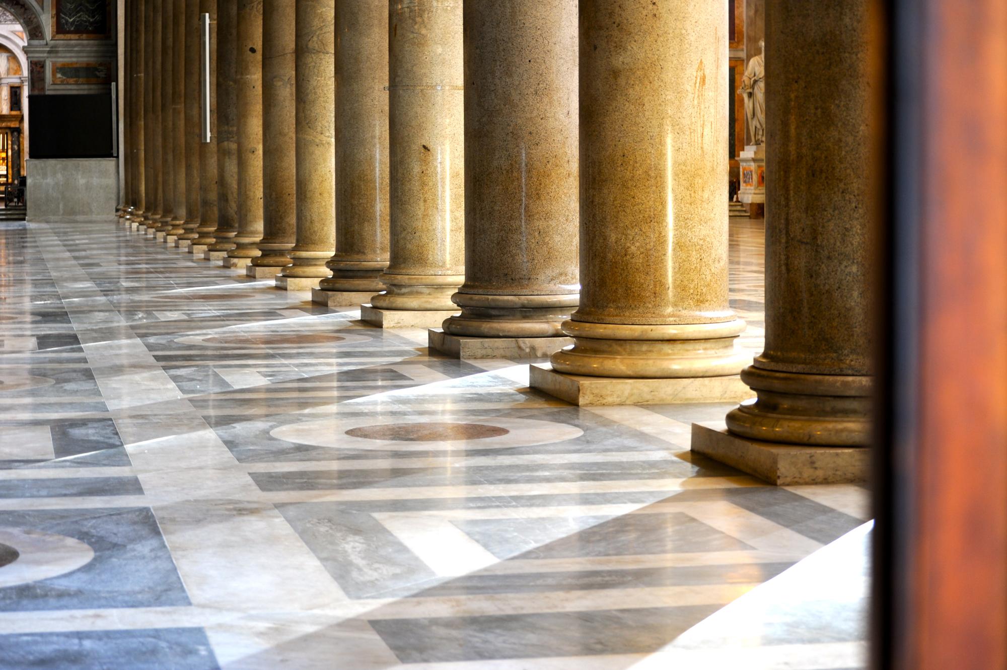 Marble column walkway